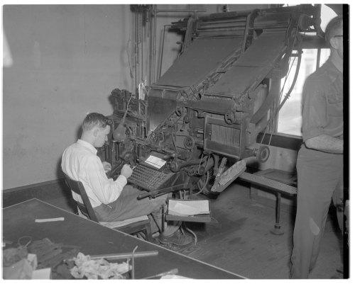 Linotype operator